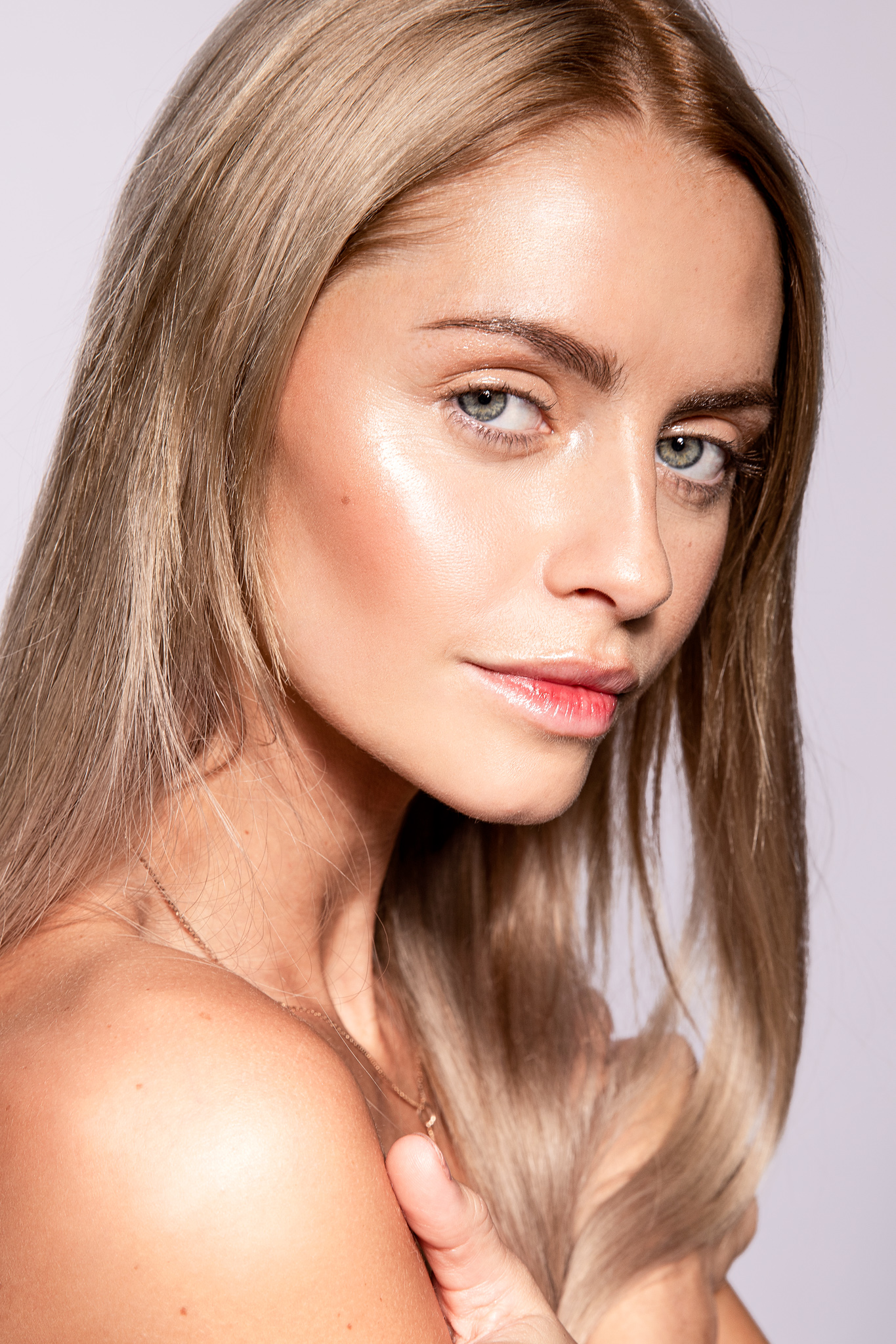 Glowing and healthy face skin