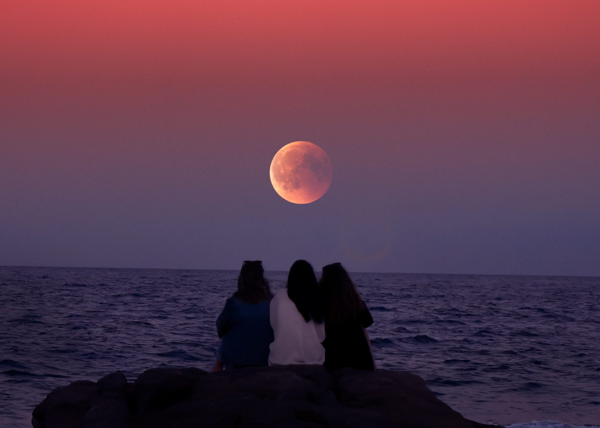 The Full Moon Magic | Group meditation at Gava beach